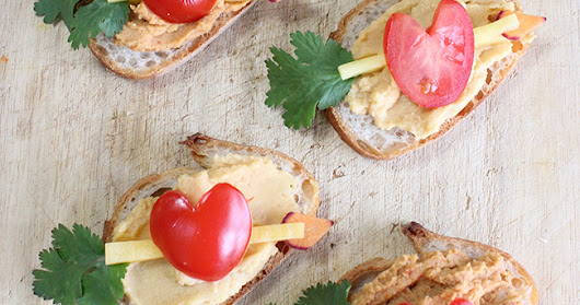 Vegan Valentines Hummus and Hearts Vegan Party Snack