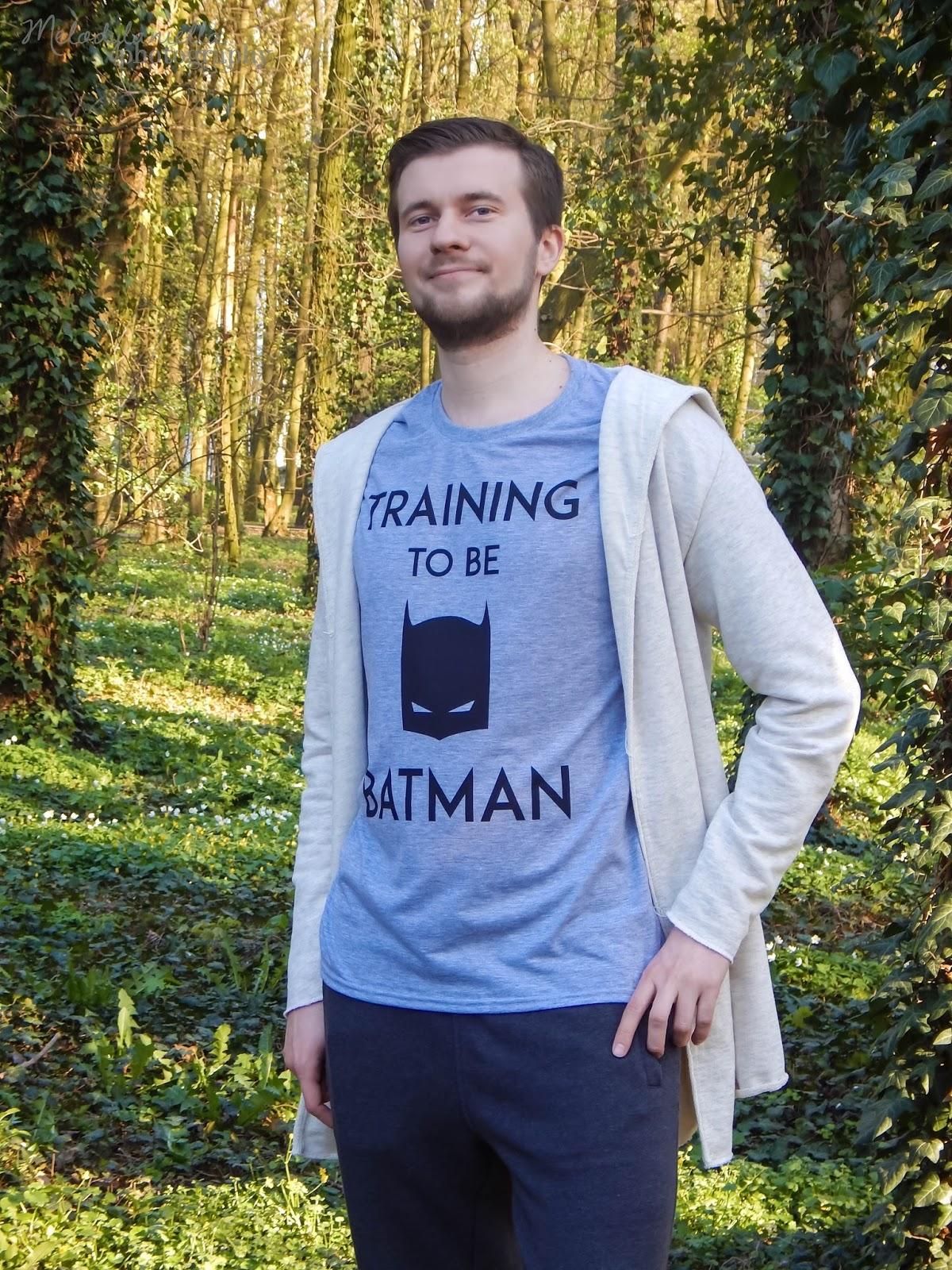 training to be batman tshirt koszulka sportowa meska ubrania dla par dla zakochanych prezent koszulove walentynki