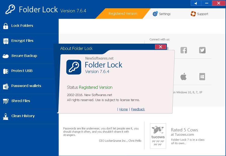 Folder Lock v7.6.4 - Full + Keygen ~ Cybi Crack
