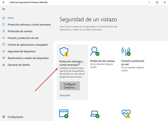Desactivar antivirus en Windows 10