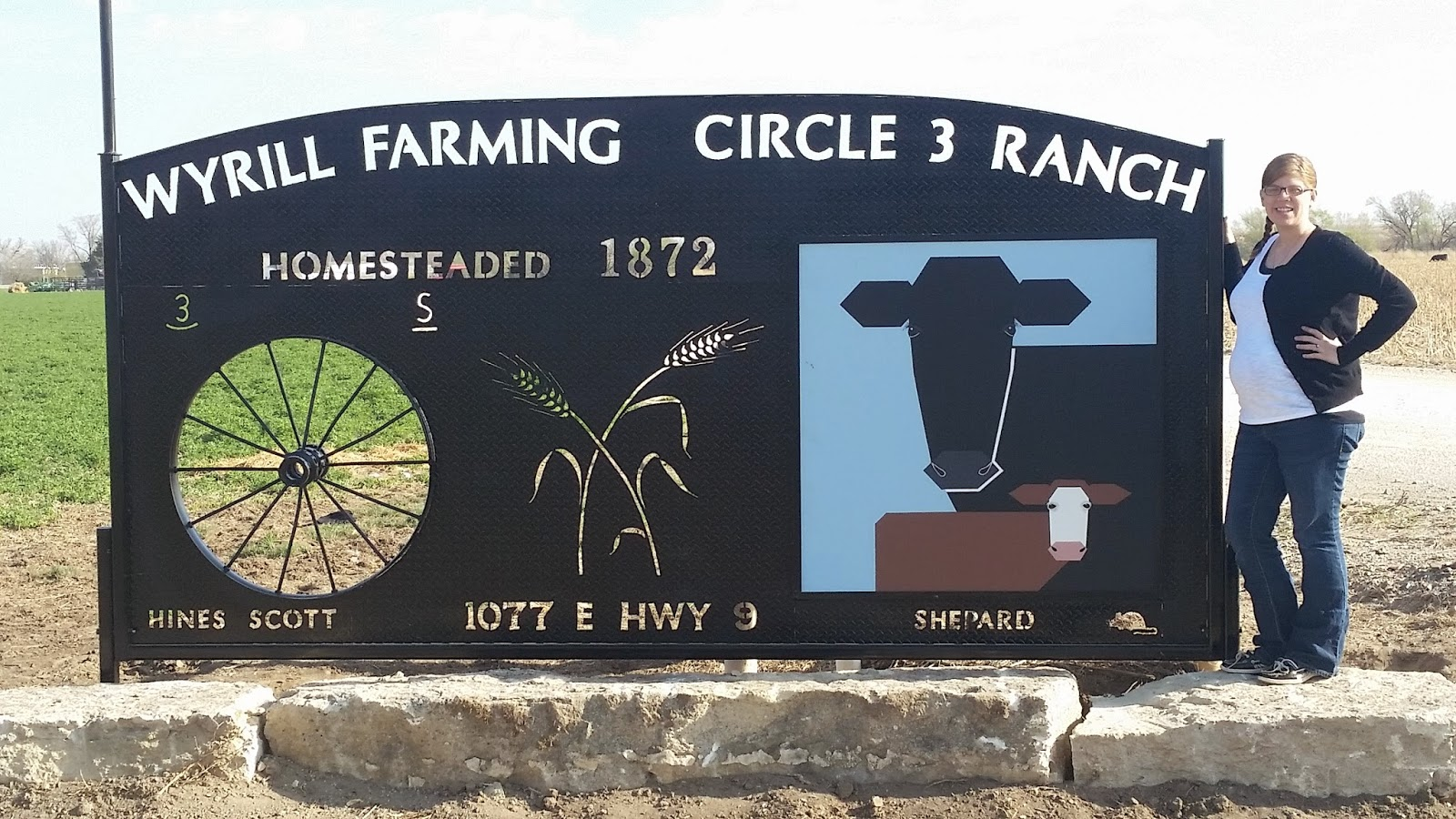 Kansas phillips county kirwin - Jessica Wyrill Poses Beside Her Barn Quilt That Became Part Of The Wyrill Farming Family Ranch Sign Near Kirwin Phillips County