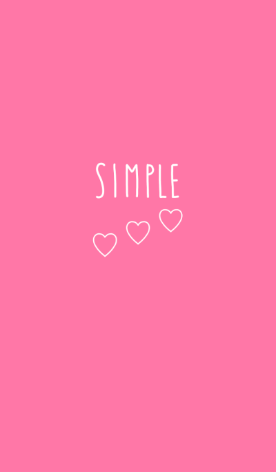 simple pink and white heart