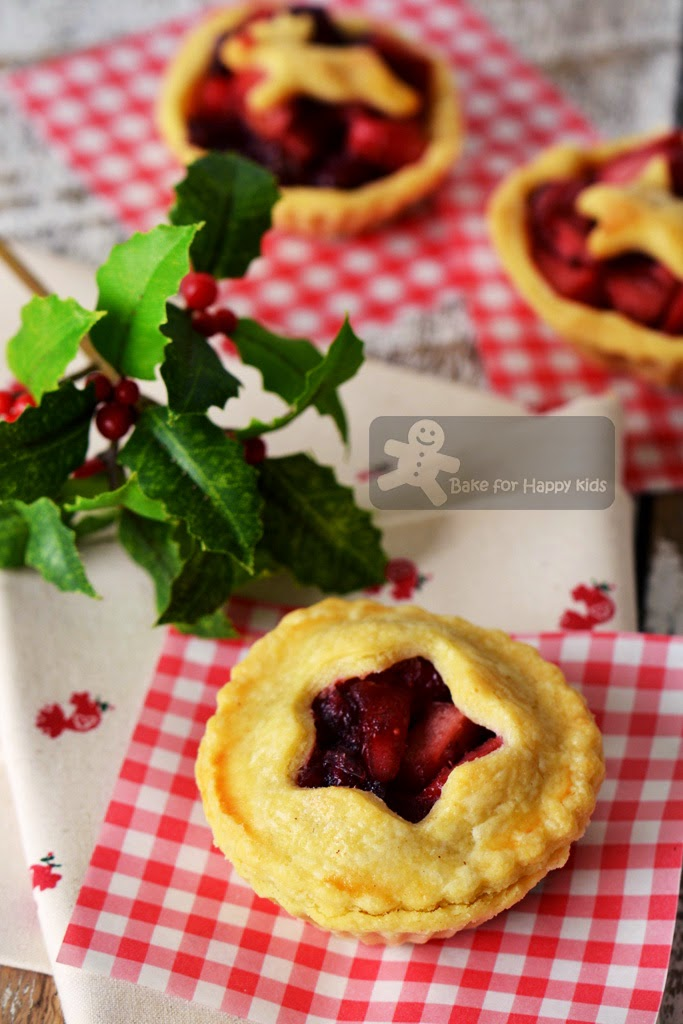 mini cranberry apple pies less sugar