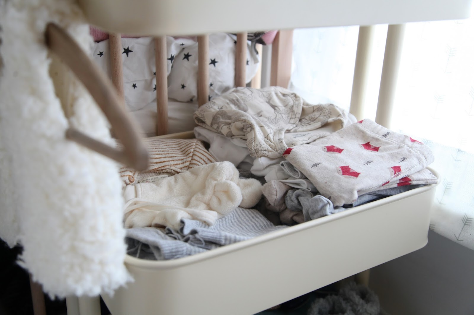 We Are Really Pushed For E In Our Bedroom So I M Using This Ikea Trolly All The Baby Stuff Clothes And Ny Changing Things On Top Tier