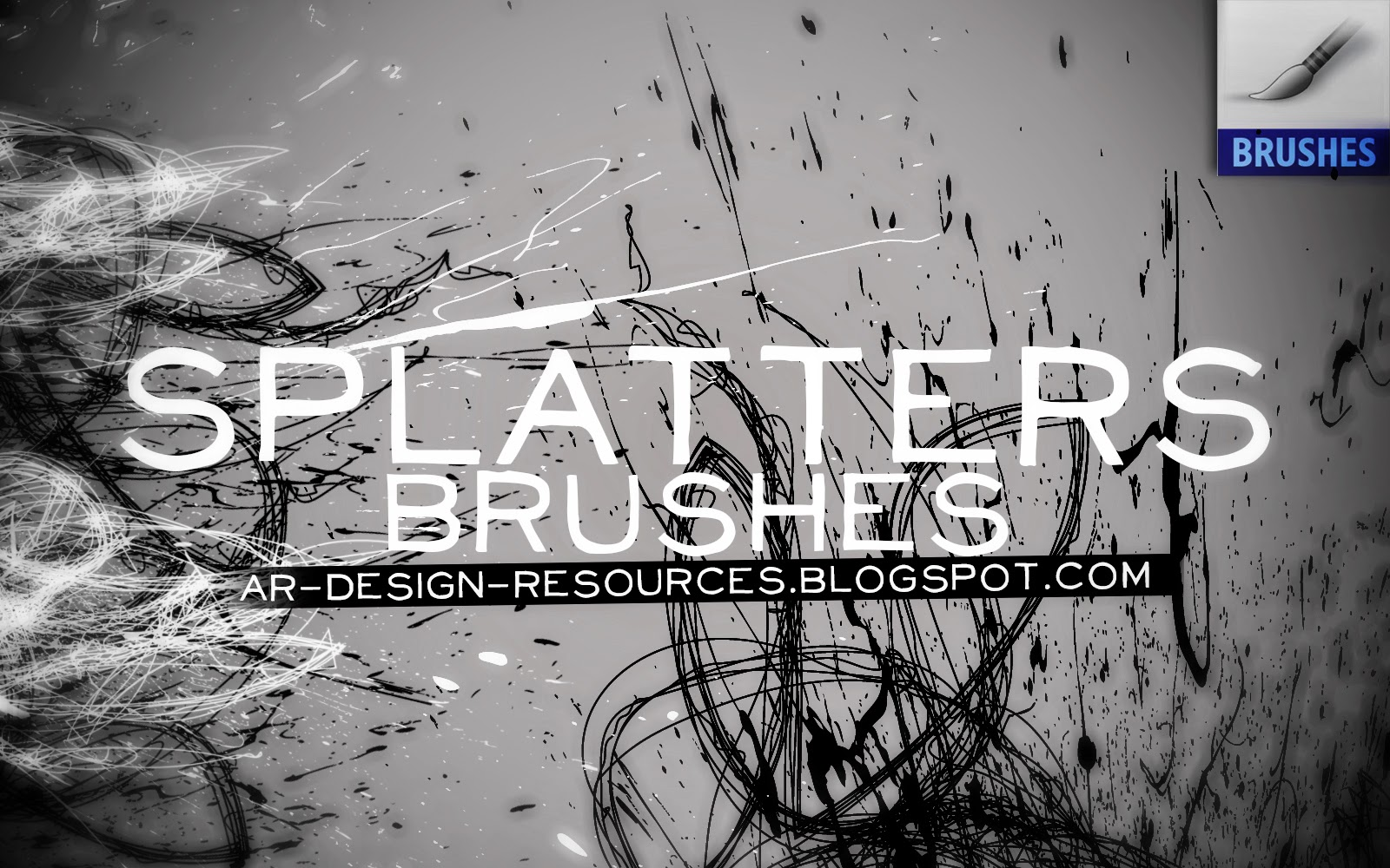 10 High-Res Splatters Brushes