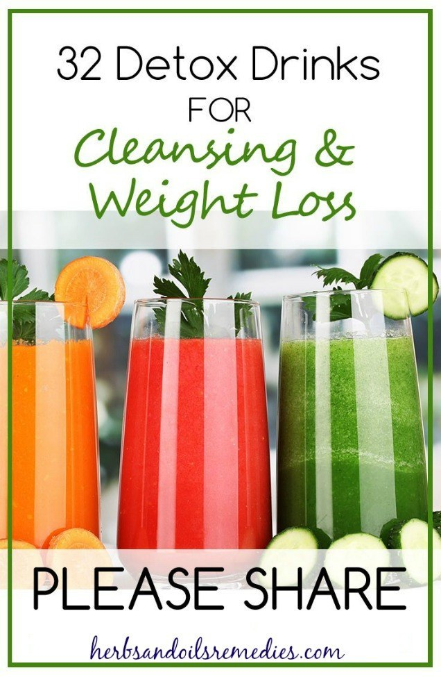 32 Proven Detox Drinks for Cleansing & Weight Loss