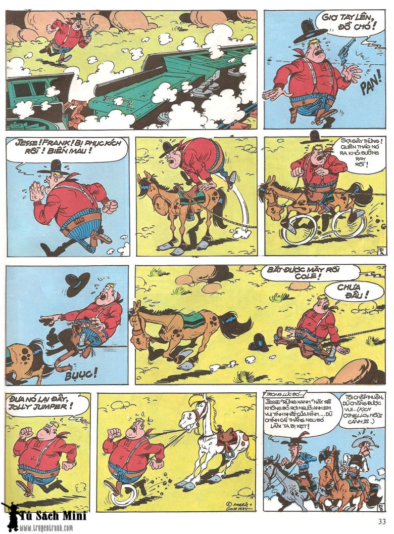 Lucky Luke tap 16 - jesse james hiep si rung xanh trang 35