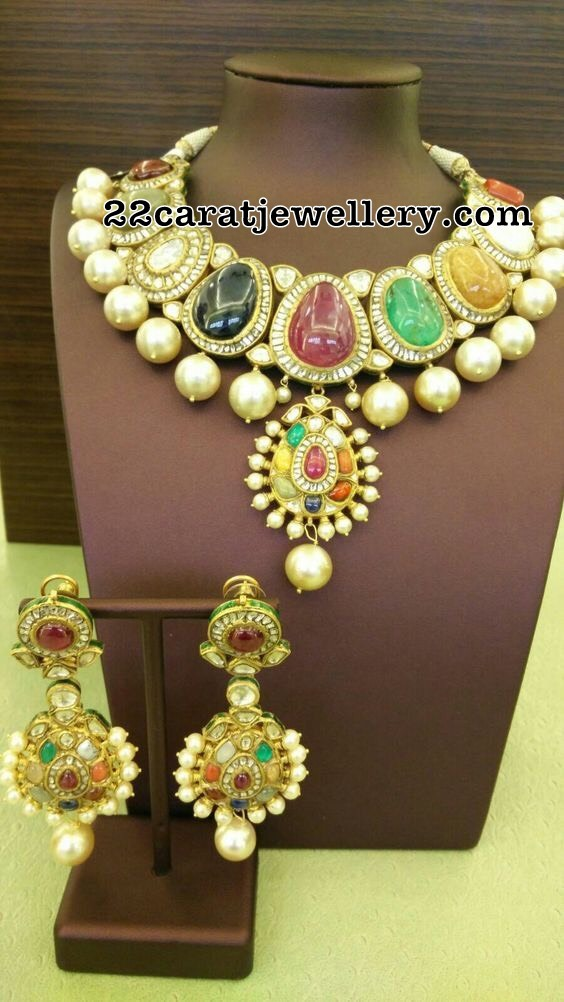 Kundan Choker Navaratan Stones Set