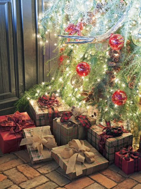 image result for beautiful tree decorated for Christmas elegant sophisticated interior design
