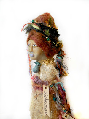 Women's Empowerment Spirit Doll Gourd and Clay Sculpture