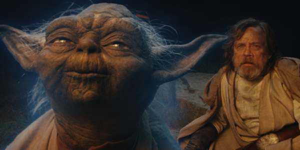 Image of Frank Oz as Yoda in Star Wars: The Last Jedi movie