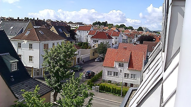 Up on the roof in Stavanger, Norway.