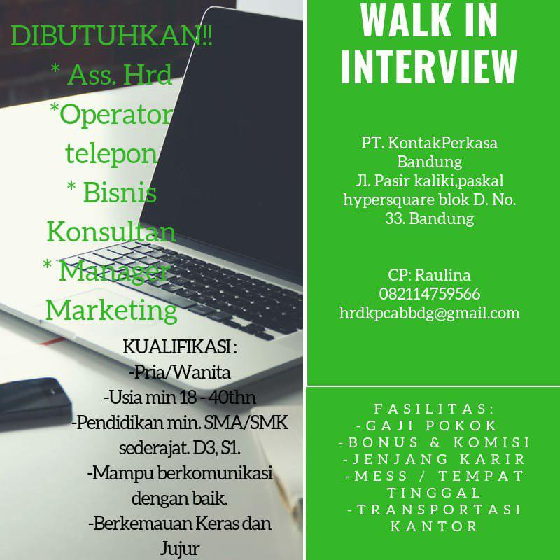 Lowongan Kerja PT. Kontak Perkasa Bandung April 2019