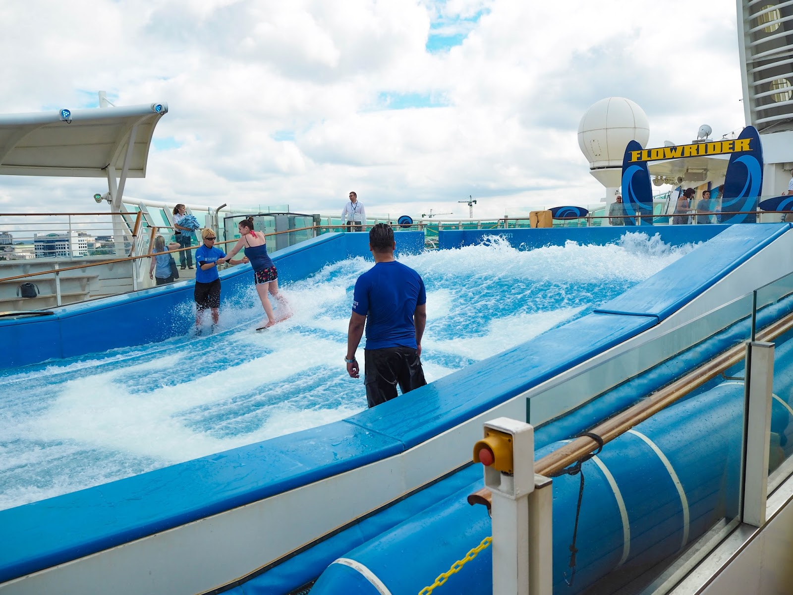 Surfing machine on Royal Caribbean's Navigator of the Seas Cruise Ship