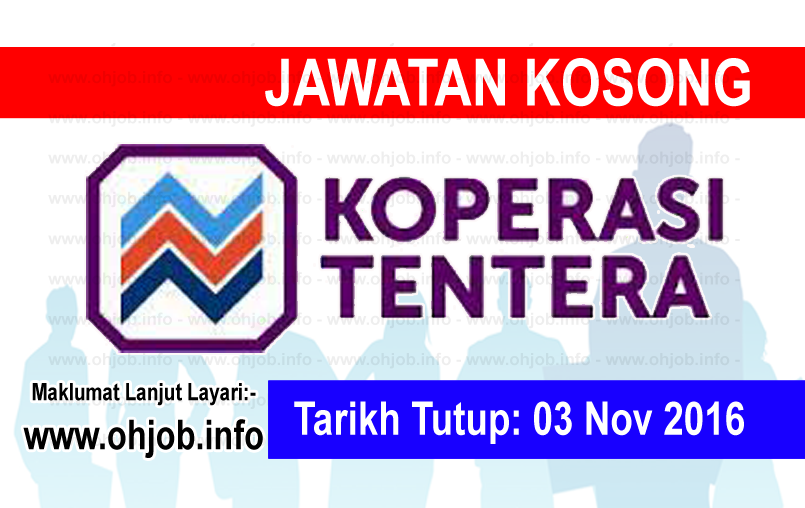 Jawatan Kerja Kosong Koperasi Tentera logo www.ohjob.info november 2016