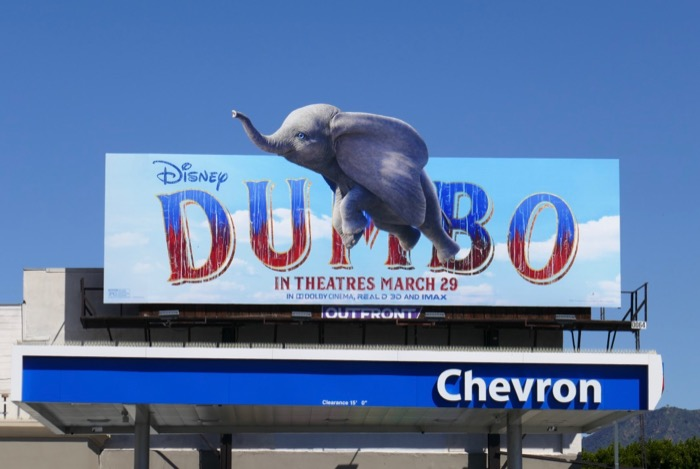 Dumbo live-action cut-out billboard