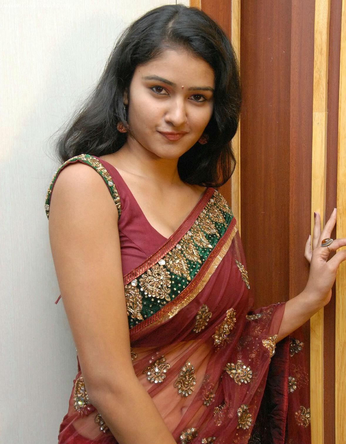 Transparent Saree: Saree Market: Transparent Sares Maroon Colours Pictures