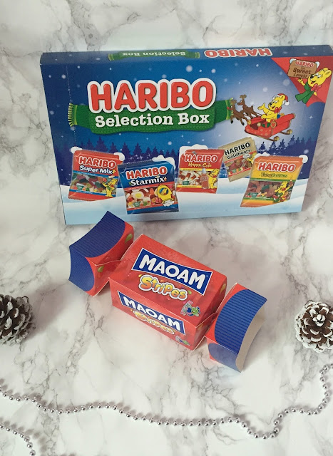Haribo selection pack and cracker sweets