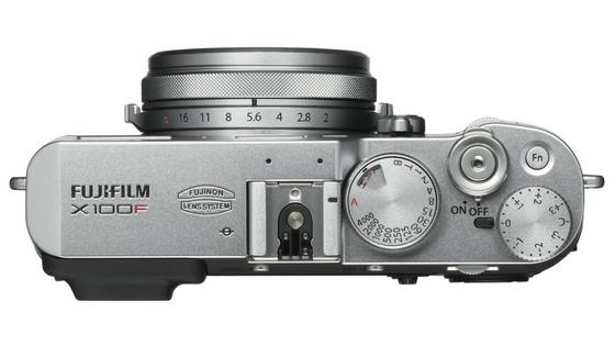 Fujifilm X100F top