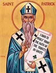 Dibujo de San Patricio con barba larga