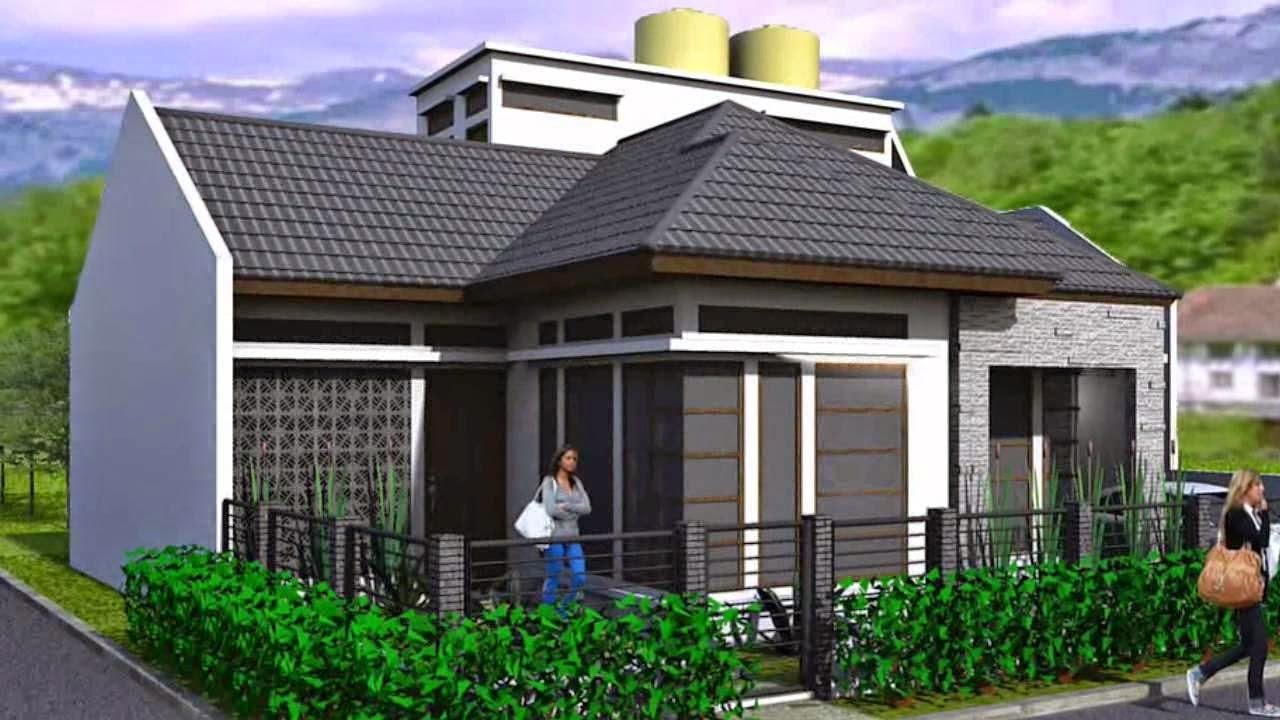 Desain  Rumah  Minimalis Satu Lantai Pada Lahan Hook
