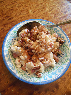 Cottage Apple Salad, apples, cottage cheese and cinnamon!