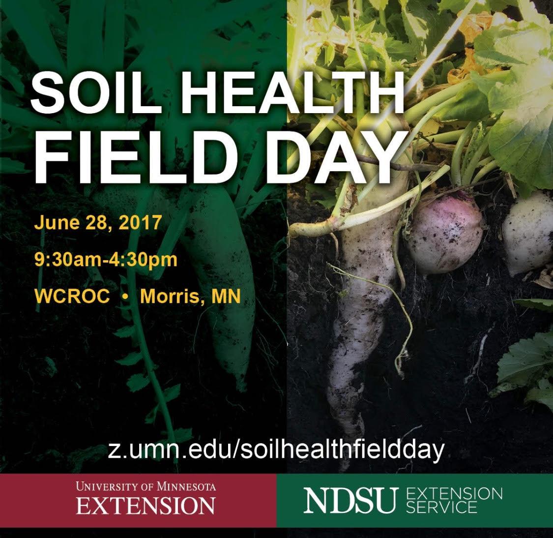 Soil Health Field Day | June 28, 2017 | Morris, MN @ West