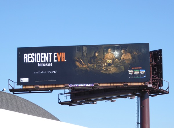 Resident Evil Biohazard video game billboard