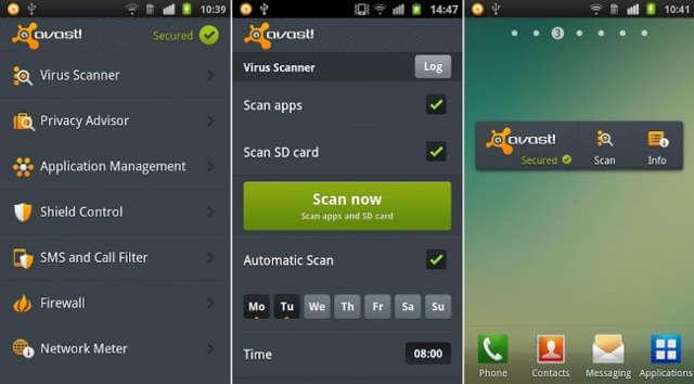 6 mejores aplicaciones de seguridad para Android Avast
