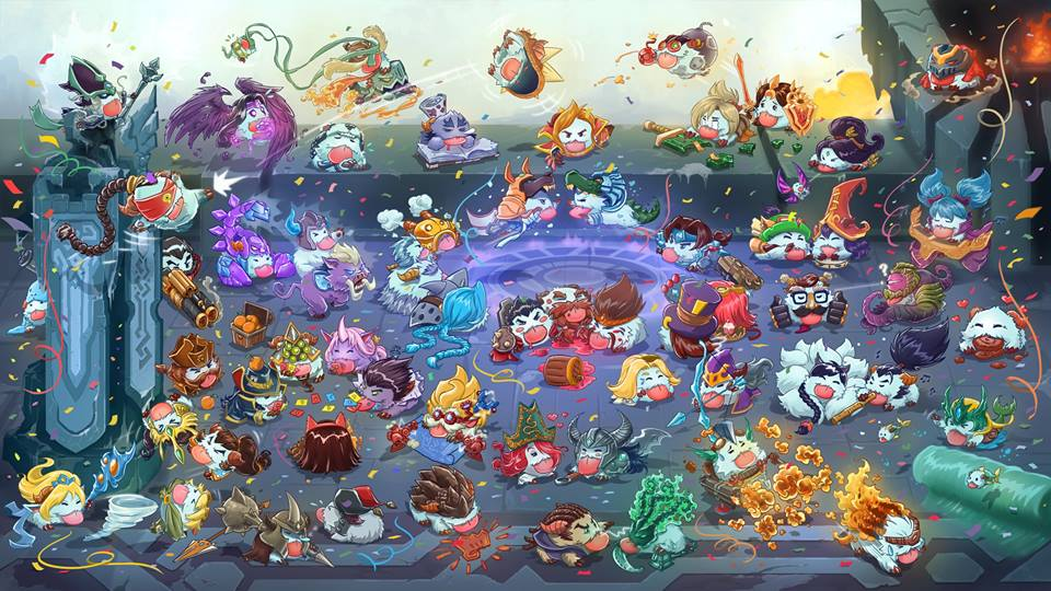 Poros vestidos de champions, League of Legends