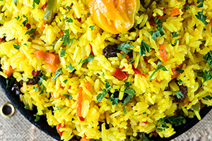 Yellow Saffron Rice