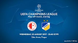 Τα εισιτήρια Slavia - ΑΠΟΕΛ και στο Orange Shop