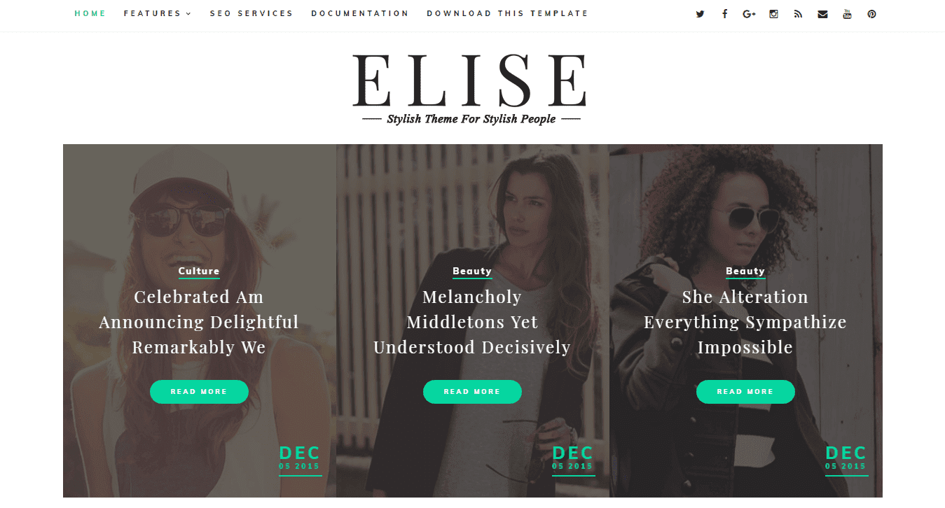Elise is a build clean modern fast in addition to slow to role Blogger Template Free Download Elise Blogger Template