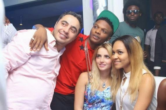 4 Wizkid Parties With Girlfiend At Hennessy Artistry Club Tour [See Photo]