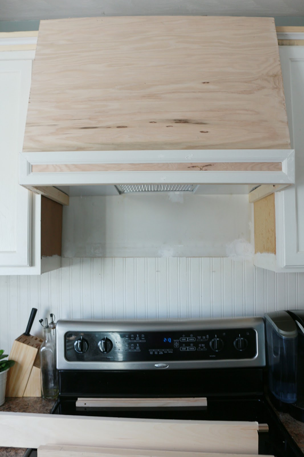 My DIY Kitchen: How I Built a Rangehood Over an Existing Cabinet ...