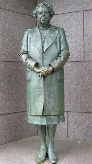 Statue of Eleanor Roosevelt - Washington, DC.