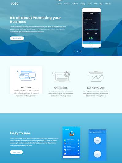 Landing Page giới thiệu ứng dụng điện thoại đẹp mẫu số 2