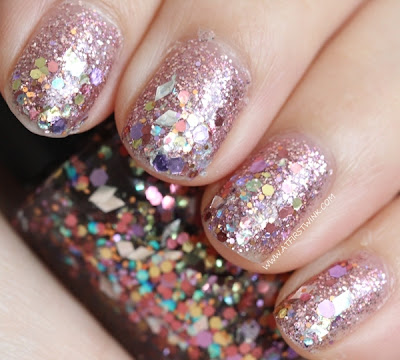 Modi Art Nails set no. 1 - Glitter Layered Collection: jewelry box