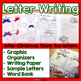 Instill an attitude of gratitude in your students by teaching them how to plan and write a thank you letter for a Christmas gift they received.  This unit has everything you need from graphic organizers to writing paper.
