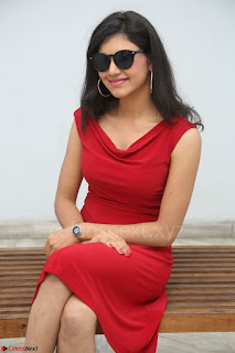 Mounika Telugu Actress in Red Sleeveless Dress Black Boots Spicy Pics 037.JPG