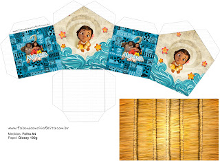 Moana Baby House shapped Free Printable Box.