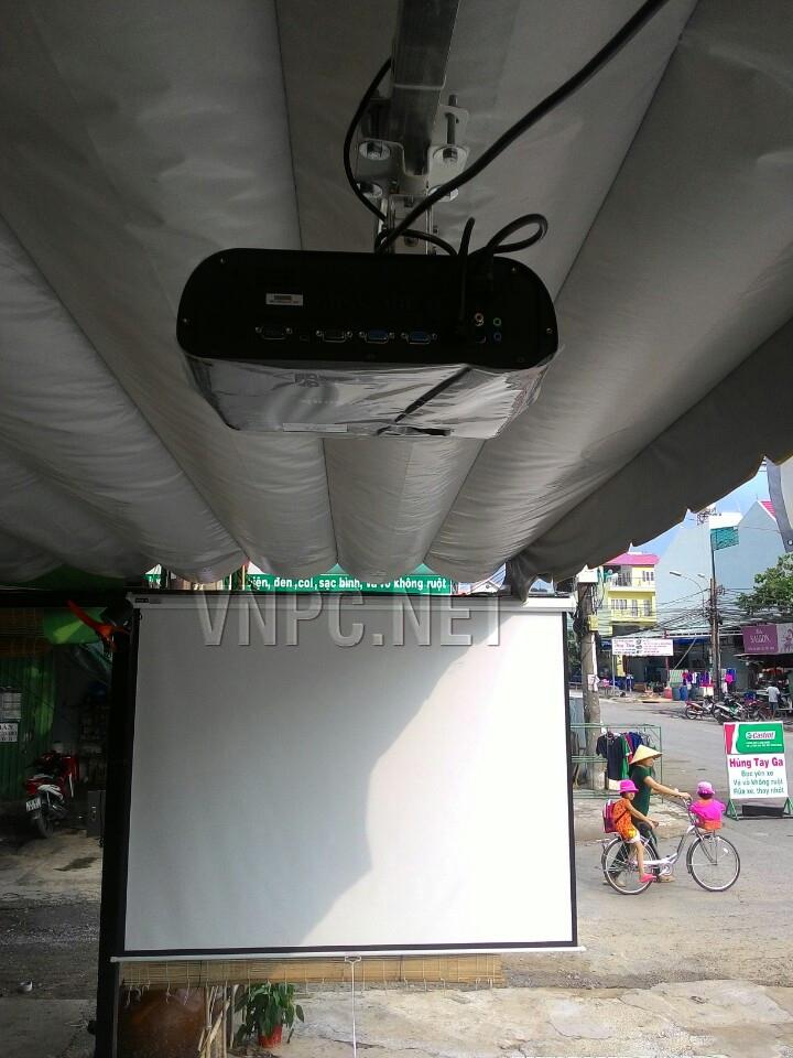 Lắp đặt máy chiếu cho quán cafe K+ AOK TpHCM