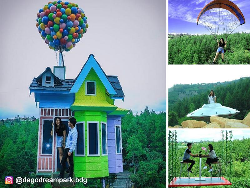 Berfoto Di Rumah Balon Ala Film Animasi Up Di Dago Dream Park