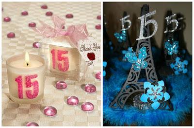 16 centros de mesa e ideas de decoraci n para fiesta de 15 for Recuerdos para quince anos modernos