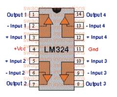 LM324 pinout details