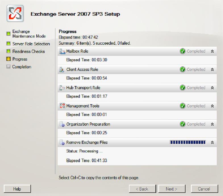 Adam Arkwright   Technical Blog: Exchange 2007 Uninstall