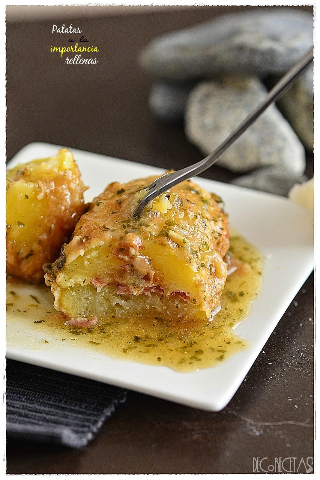 Patatas a la importancia rellenas