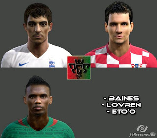 Faces: 1. Baines 2. Lovren 3 Eto, Pes 2013