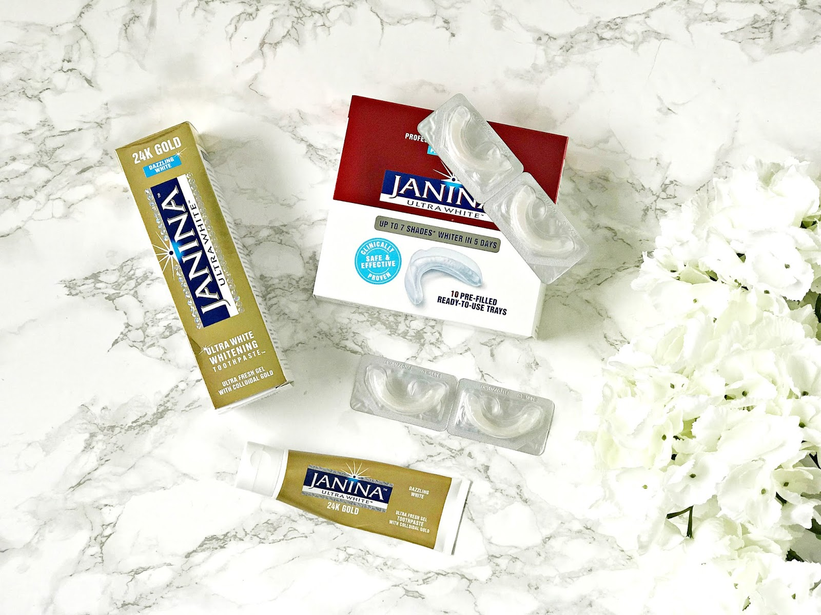 Janina, National Smile Month, 24K Gold Toothpaste, Maxiwhite Professtional Teeth Whitening Pre-Filled Trays, Teeth Whitening, review,