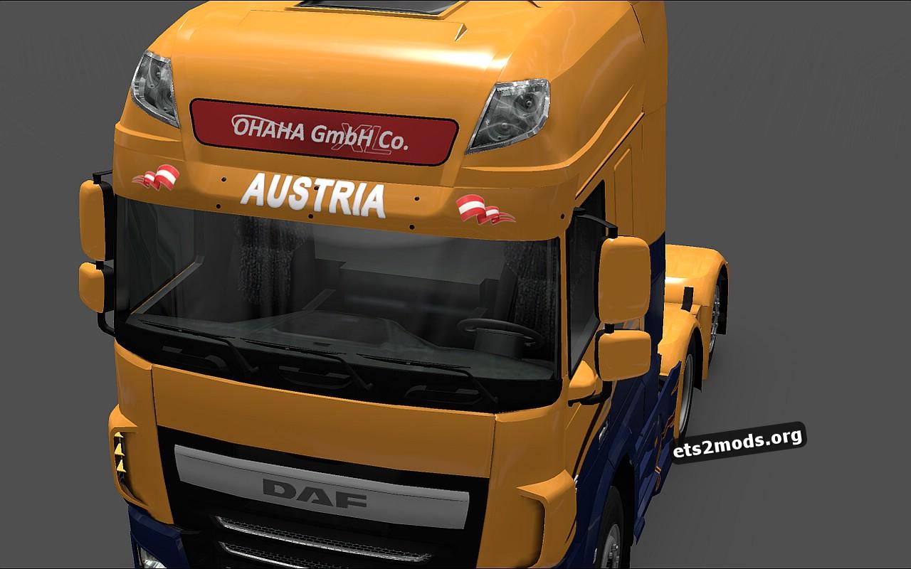 Austrian sunshields for DAF Euro 6